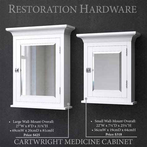 3D model white RH CARTWRIGHT MEDICINE CABINET   CGTrader