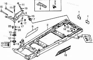 Honda Atv 1979 Oem Parts Diagram For Engine Mount    Frame