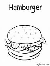 Coloring Pages Hamburger Sheets Printable Colouring Cheeseburger Hamburgers Weather Burger Sheet Template Burgers Fries Printables Crispy Preschool A4 Draw Worksheets sketch template