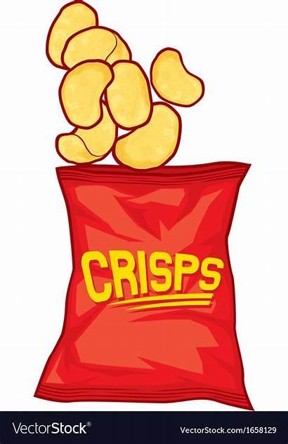 Chips Potato Bag Vector Vectorstock Royalty Vectors