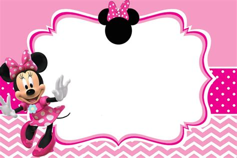 Minnie Mouse Template Invitation by Minnie Mouse Birthday Invitation Template Free