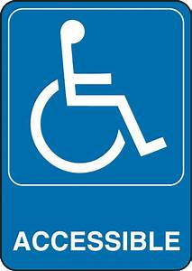 5 inch x 7 inch accessability sign 841780 in canada With sign letters canada