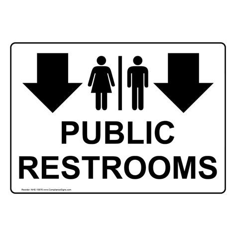 restroom public restroom signs