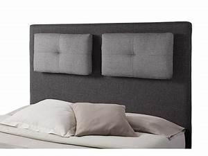 Coussin Tete De Lit Dehoussable : tete de lit avec coussin mirko 2 gris anthracite gris perle l 160 x h 120 x p 18 ~ Teatrodelosmanantiales.com Idées de Décoration