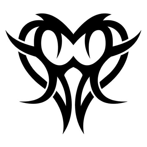 beautiful tribal heart tattoos