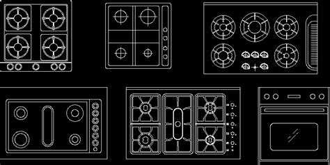 kitchen equipment  autocad  cad