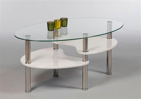couchtisch oval glas sofatisch wohnzimmertisch glastisch