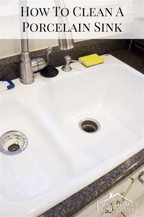how to clean a porcelain sink with baking soda porcelain sink hard water stains and water stains on