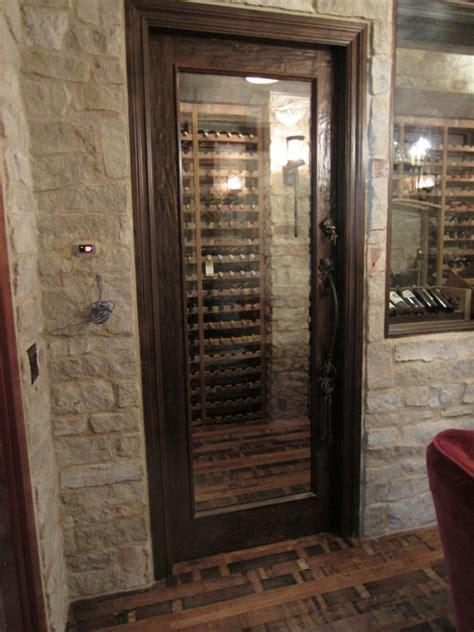 barolo glass custom wine cellar door with heavy