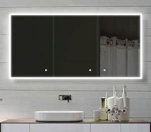 Badezimmer Spiegelschrank Led : alu badschrank badezimmer spiegelschrank bad led beleuchtung 140x70cm sac140h70 ~ Indierocktalk.com Haus und Dekorationen