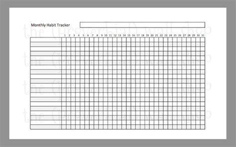 habit tracker template monthly habit tracker half size a5 planner insert printable