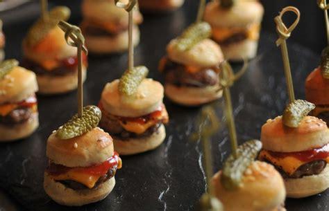 canapé apero dinatoire recettes apero dinatoire rapide mini hamburgers