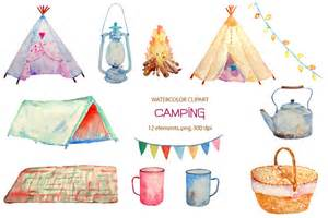 unique baby shower decorations watercolor cing clipart teepee illustrations on