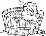 Coloring Bathtub Bath Pages Dog Chien Tub Coloriage Dogs Clipart Drawing Imprimer Printable Colouring Dessin Colorier Animal Chiot Webstockreview Et sketch template