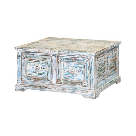 You guys are going to love this coffee table! Winter Morning Distressed Reclaimed Wood Square Coffee Table Chest