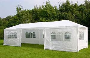 3m x 9m white waterproof outdoor garden gazebo party tent for Garden tents