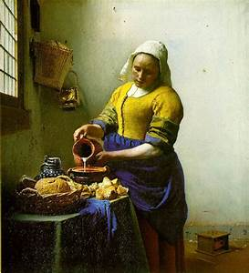 The Milkmaid by Jan Vermeer - ArtinthePicture.com