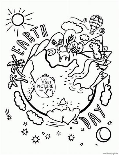Earth Coloring Pages Printable Celebration Earthquake Drawing