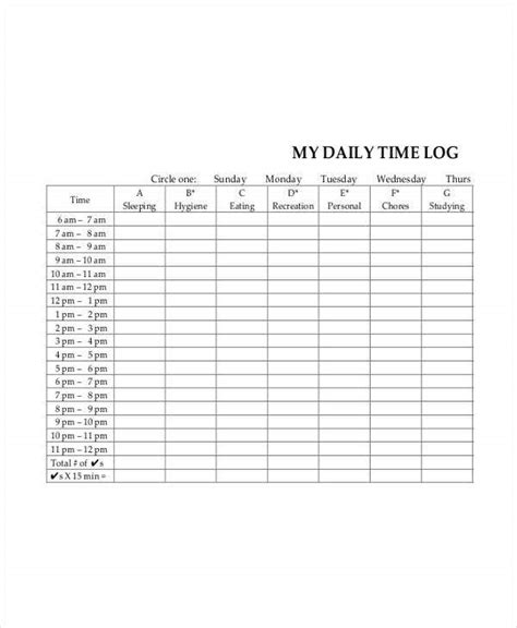 daily sheet templates  word  format