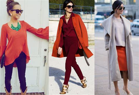 what color goes with orange colors that go with burnt orange clothes ideas