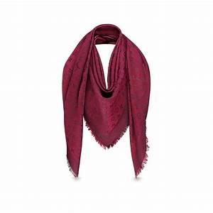 Luxury Silk & Wool Monogram Rainbow Shawl LOUIS VUITTON