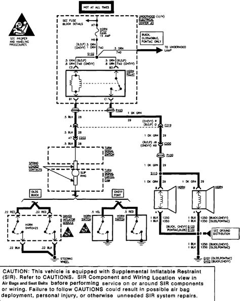 1994 Buick Lesabre Ignition Switch Wiring Diagram by I A 1996 Buick Regal Grand Sport The Horn Switch Is