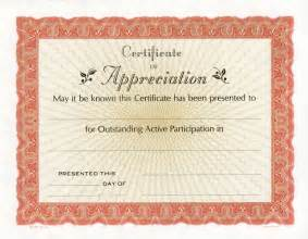 Free Printable Certificate of Appreciation