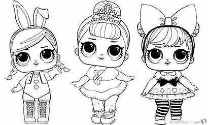 Lol Coloring Dolls Doll Pages Printable Sheet