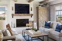 family room ideas Spanish Coastal • Norman Design Group