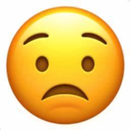 Worried Face Em... Worried Emoji