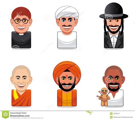 dessin anime religion islam icons religion stock illustration