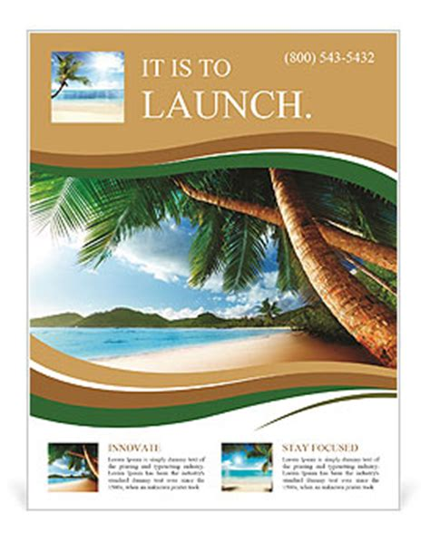 dream beach vacation flyer template design id