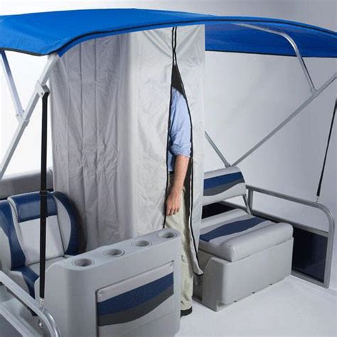 pontoon boat changing room drop curtain w zipper