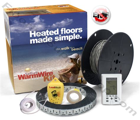 suntouch floor warming kit suntouch radiant floor heating warmwire kits 500 sq