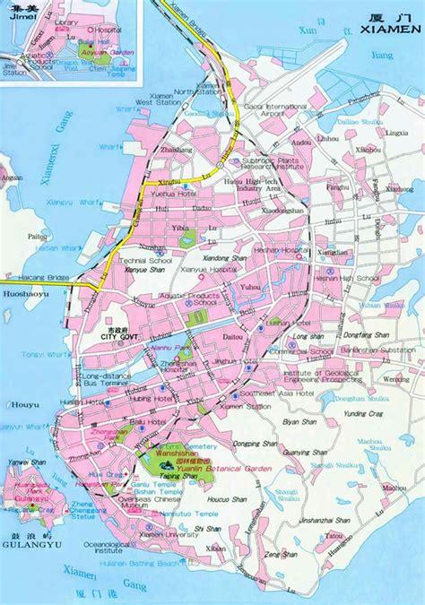maps  xiamenxiamen  map xiamen tourist map