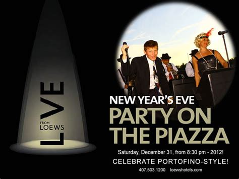 Ticket Sales  Live From Loews New Year's Eve Party On The