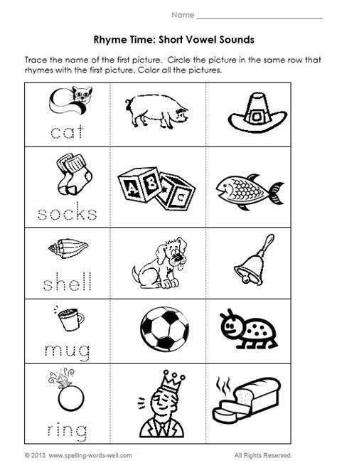 9 Best Images Of Printable Rhyming Worksheets For Kindergarten  Free Printable Rhyming Words