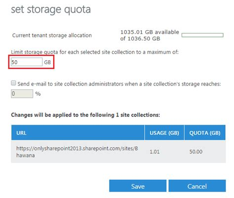 Office 365 Quota by Sharepoint Office 365 How To Increase Sharepoint