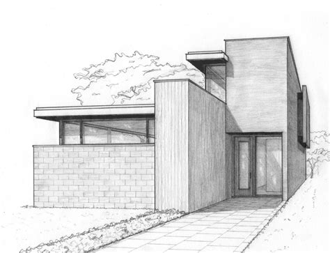perspective sketch   house   city work