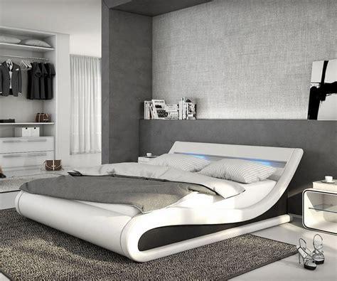 21 Ideen Fuer Palettenbett Im Schlafzimmerbett Aus Paletten by Delife Bett Belana Weiss Schwarz 180x200 Mit Beleuchtung
