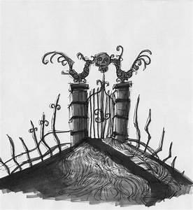 Nightmare Before Christmas Graveyard | Graveyard Gate by ...