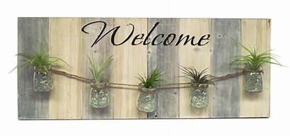 Welcome Sign Pallet Plant Diy Air Frame