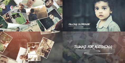 After Effects Falling Retro Pictures Template Mega by Falling Parallax Slideshow Retro After Effects Templates