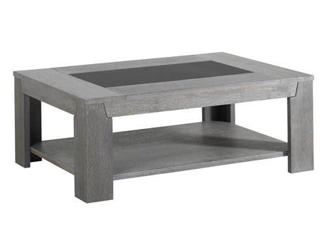 plateau de bureau en verre sérigraphié table basse en bois et verre l110xp80xh42cm bruts gris