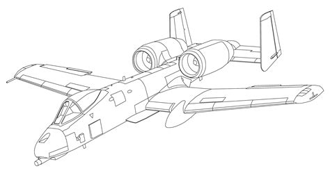 A 10 Warthog Coloring Pages A10 Sheets Coloring Pages