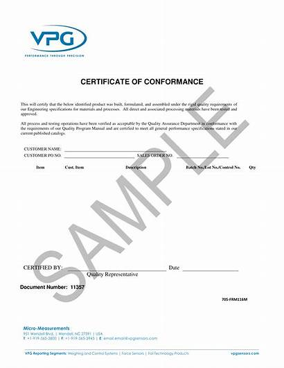 Certificate Conformance Example Template Examples Short Pdf