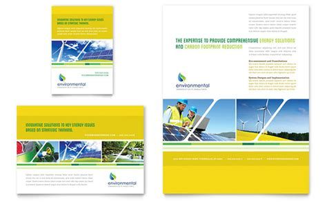 environmental conservation flyer ad template design
