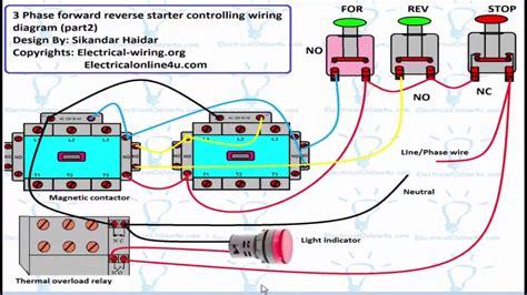 Reverse Forward Motor Control Circuit Diagram For Phase