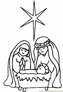 free printable coloring page Religious Christmas Coloring ...