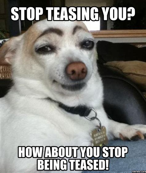 Tease Meme - stop teasing you how about you stop being teased memes com